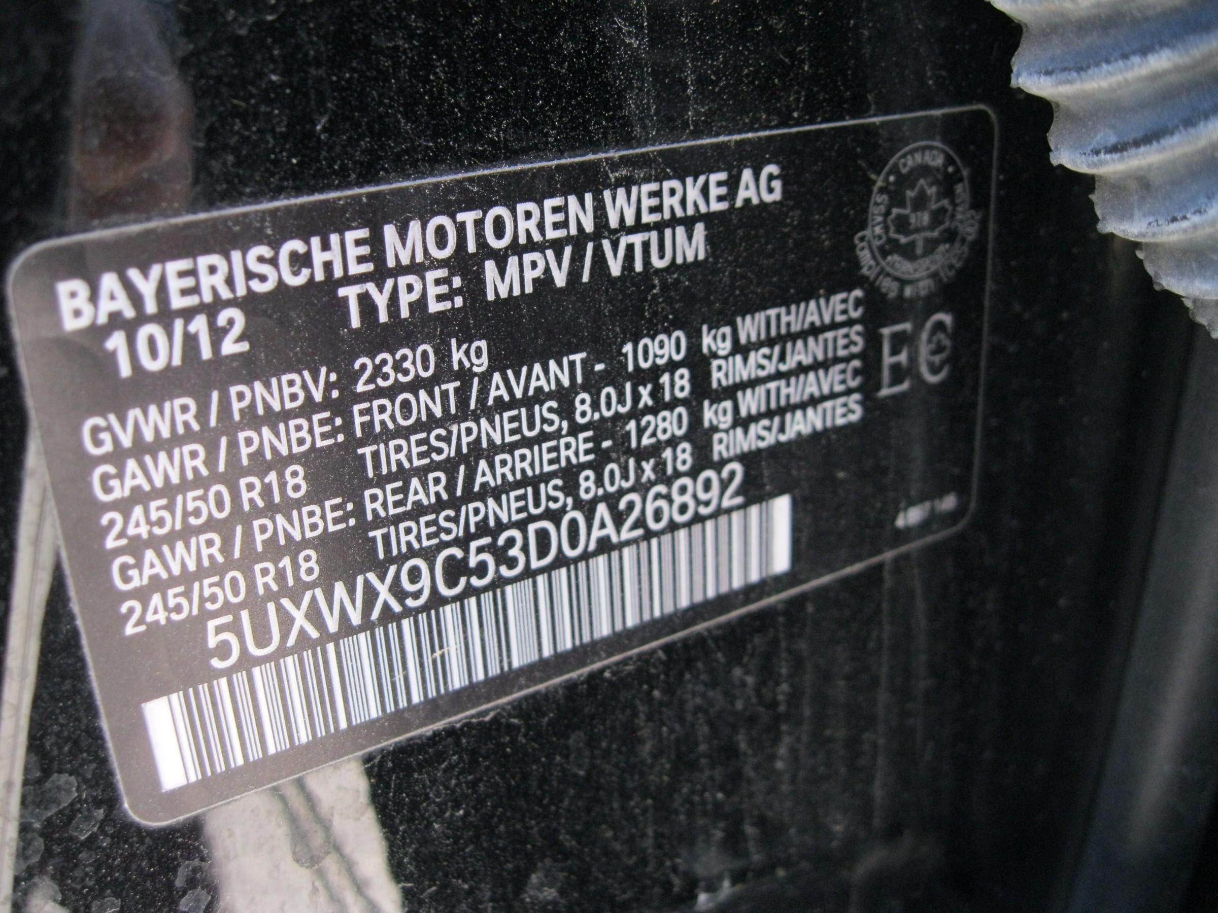 2013 BMW X3 xDrive28i (Stk: 00441) in Stratford - Image 30 of 30
