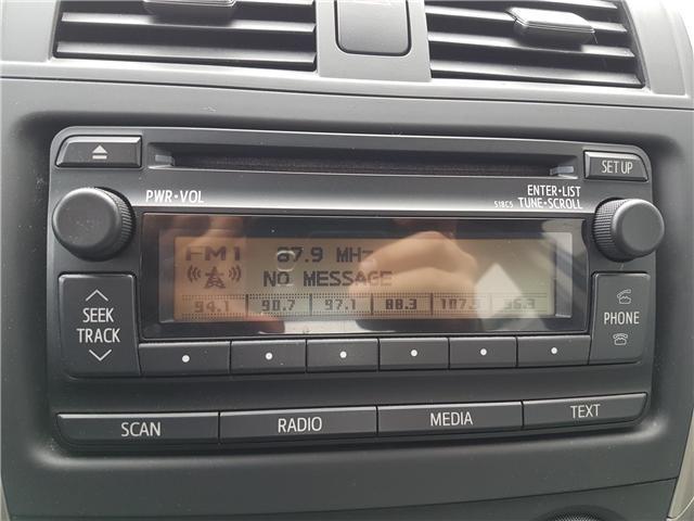 2012 toyota corolla radio