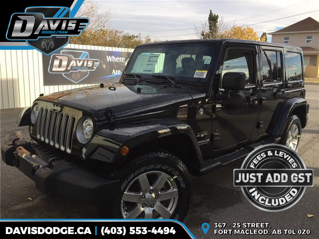 2017 Jeep Wrangler Unlimited Sahara 1C4BJWEG8HL744096 11695 in Fort Macleod