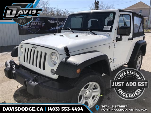 2018 Jeep Wrangler JK Sport (Stk: 12866) in Fort Macleod - Image 1 of 14