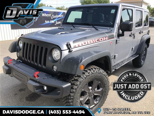 2018 Jeep Wrangler JK Unlimited Rubicon (Stk: 12278) in Fort Macleod - Image 1 of 19