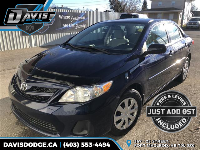 2011 Toyota Corolla CE 2T1BU4EE2BC633603 14130 in Fort Macleod