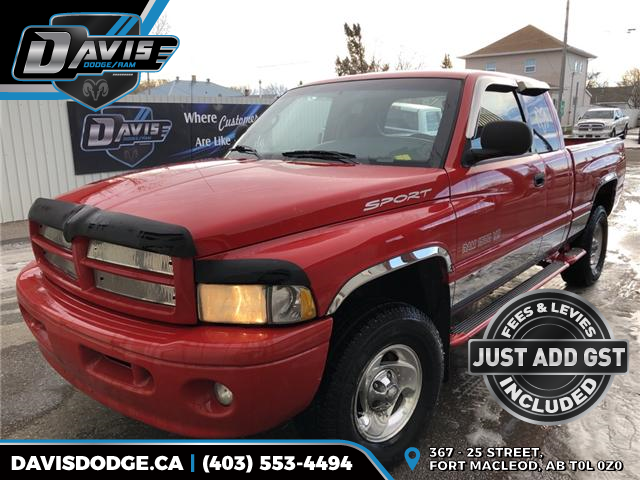 1999 Dodge Ram 1500 ST 1B7HF13Z5XJ587107 14241 in Fort Macleod