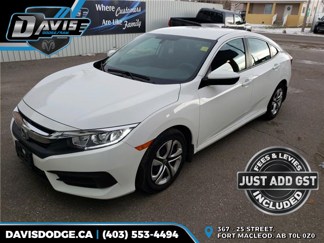 2017 Honda Civic LX (Stk: 16423) in Fort Macleod - Image 1 of 18