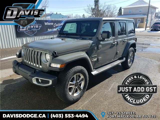 2020 Jeep Wrangler Unlimited Sahara (Stk: 16834) in Fort Macleod - Image 1 of 18