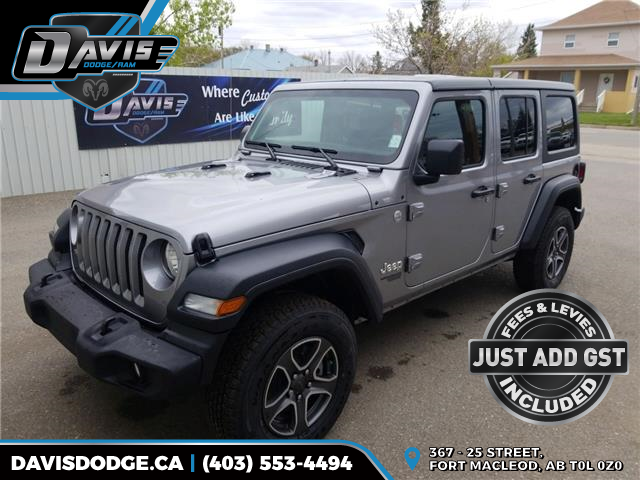 2020 Jeep Wrangler Unlimited Sport (Stk: 17137) in Fort Macleod - Image 1 of 15