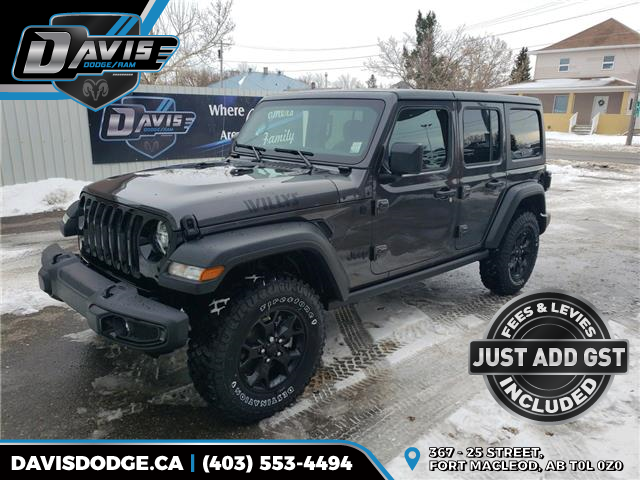 2021 Jeep Wrangler Unlimited Sport (Stk: 18142) in Fort Macleod - Image 1 of 21