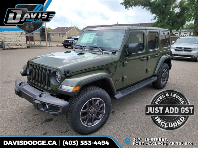 2021 Jeep Wrangler Unlimited Sahara (Stk: 19292) in Fort Macleod - Image 1 of 20