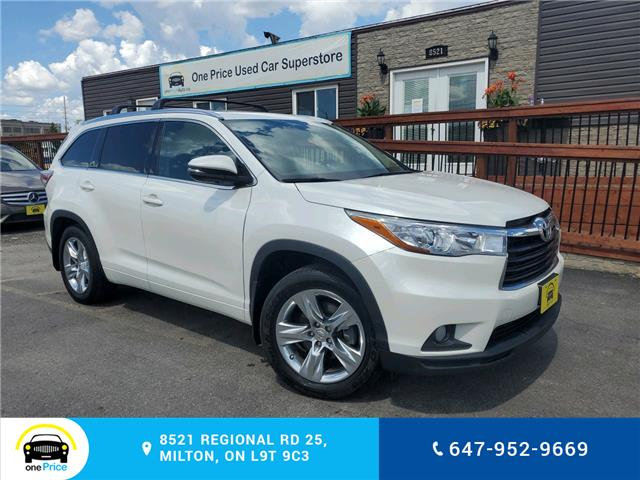 2015 Toyota Highlander Limited (Stk: 10689) in Milton - Image 1 of 3