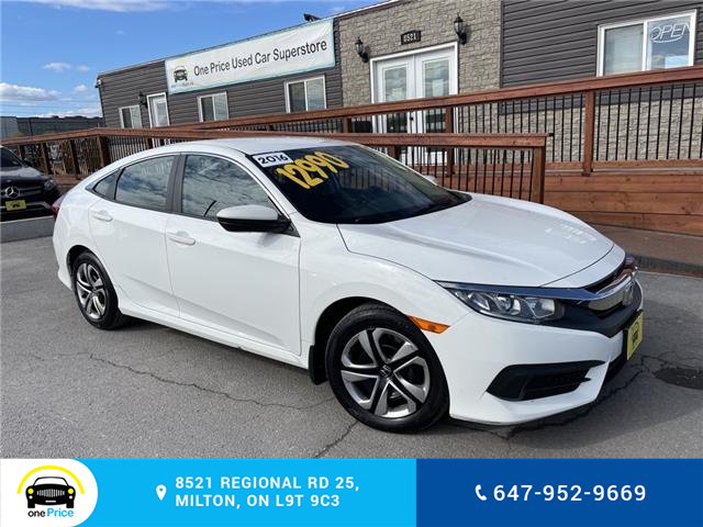 2016 Honda Civic LX (Stk: 11001) in Milton - Image 1 of 24