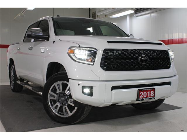2018 Toyota Tundra Platinum 5.7L V8 (Stk: 297721S) in Markham - Image 1 of 26