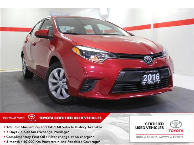 2016 Toyota Corolla LE (Stk: 298163S) in Markham - Image 1 of 24