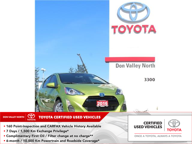 2016 Toyota Prius C Base (Stk: 211577A) in Markham - Image 1 of 1