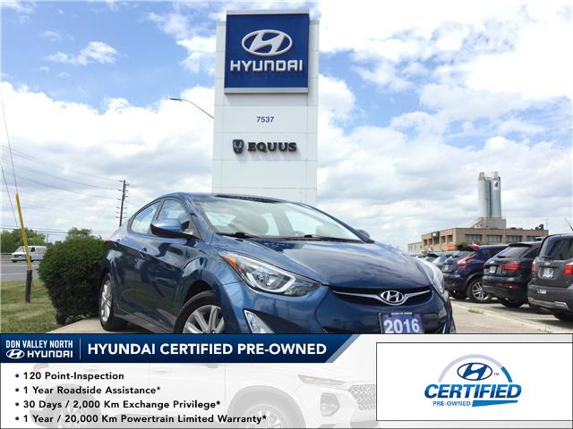 2016 Hyundai Elantra Sport Appearance (Stk: 7836H) in Markham - Image 1 of 21