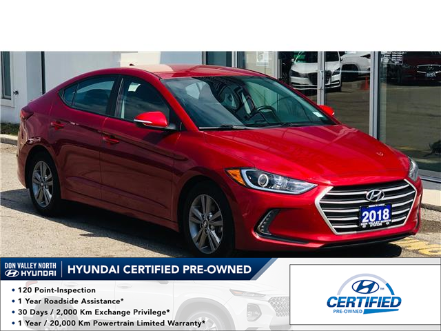 2018 Hyundai Elantra GL (Stk: 8522H) in Markham - Image 1 of 18