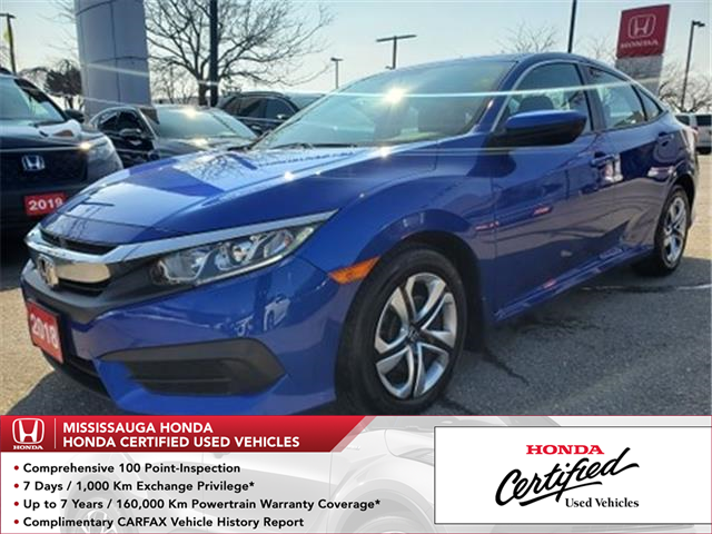 2018 Honda Civic LX (Stk: 328665A) in Mississauga - Image 1 of 21