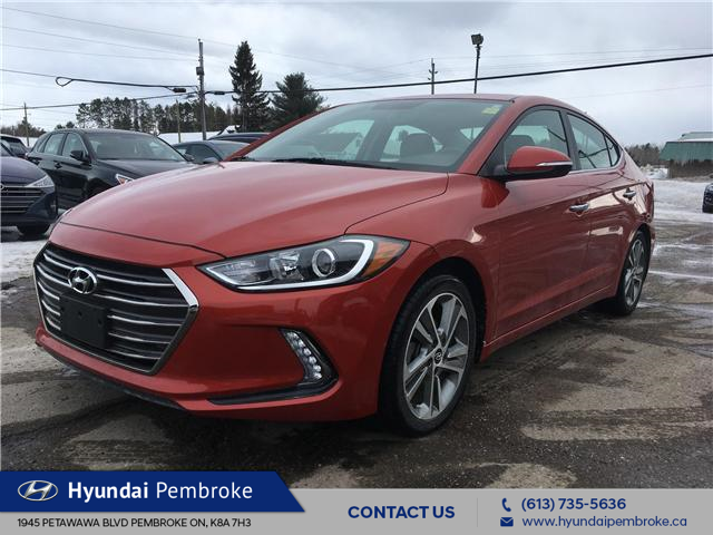 2017 Hyundai Elantra Limited (Stk: P363) in Pembroke - Image 1 of 27