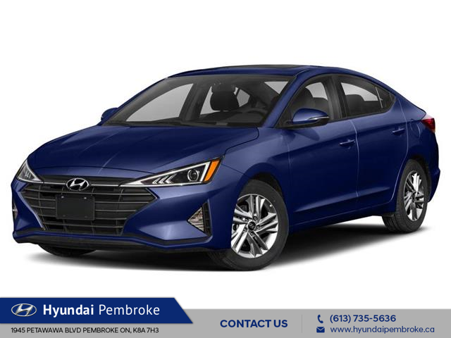 2020 Hyundai Elantra Preferred w/Sun & Safety Package (Stk: 20028) in Pembroke - Image 1 of 9