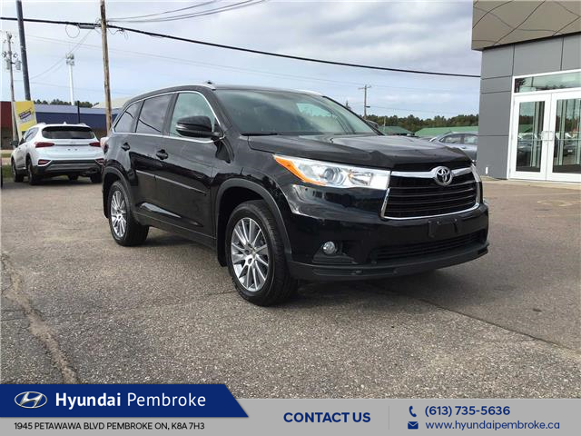 2015 Toyota Highlander XLE (Stk: 19512A) in Pembroke - Image 1 of 19