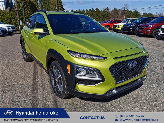 2020 Hyundai Kona 1.6T Ultimate w/Lime Colour Pack (Stk: 20291) in Pembroke - Image 1 of 28