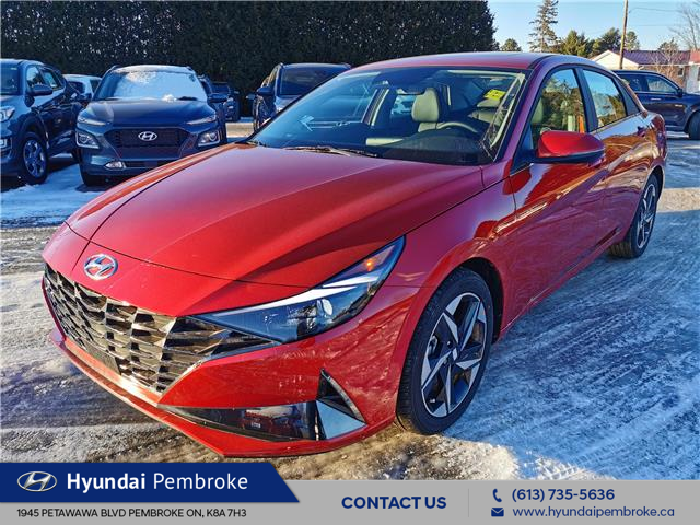 2021 Hyundai Elantra Ultimate w/Tech Pkg & Black Seats (Stk: 21145) in Pembroke - Image 1 of 25