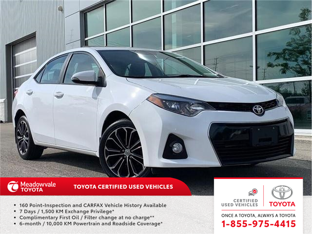 2016 Toyota Corolla S TECH!! NEW ARRIVAL !! (Stk: M190578A) in Mississauga - Image 1 of 19