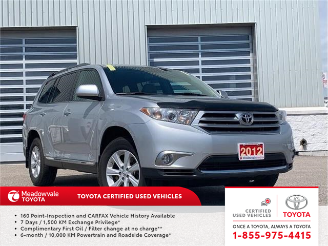 2012 Toyota Highlander 4WD!! JUST TRADED IN !! (Stk: M190817A) in Mississauga - Image 1 of 15