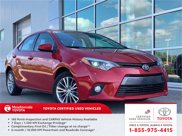 2015 Toyota Corolla LE UPGRADE!! JUST TRADED !! (Stk: 31498) in Mississauga - Image 1 of 18