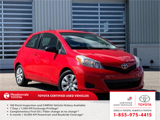 2013 Toyota Yaris CE!! JUST TRADED IN !! (Stk: M190814B) in Mississauga - Image 1 of 11
