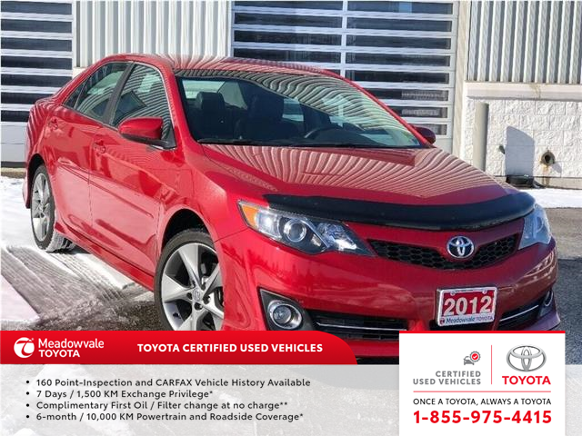 2012 Toyota Camry SE (Stk: M200282A) in Mississauga - Image 1 of 18