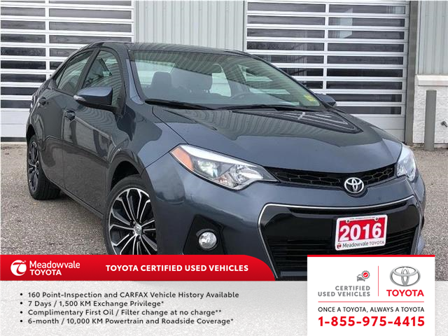 2016 Toyota Corolla S UPGRADE PKG!! JUST TRADED IN !! (Stk: 31531) in Mississauga - Image 1 of 15