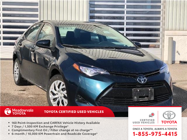 2017 Toyota Corolla LE!! JUST TRADED !! (Stk: 31544) in Mississauga - Image 1 of 18