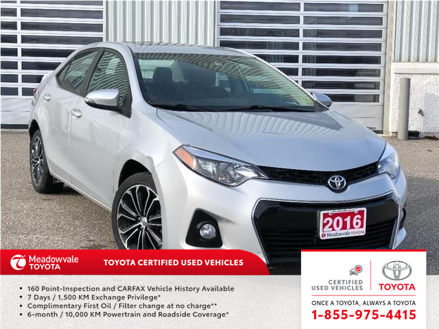 2016 Toyota Corolla S UPGRADE JUST TRADED !! (Stk: M200314A) in Mississauga - Image 1 of 14