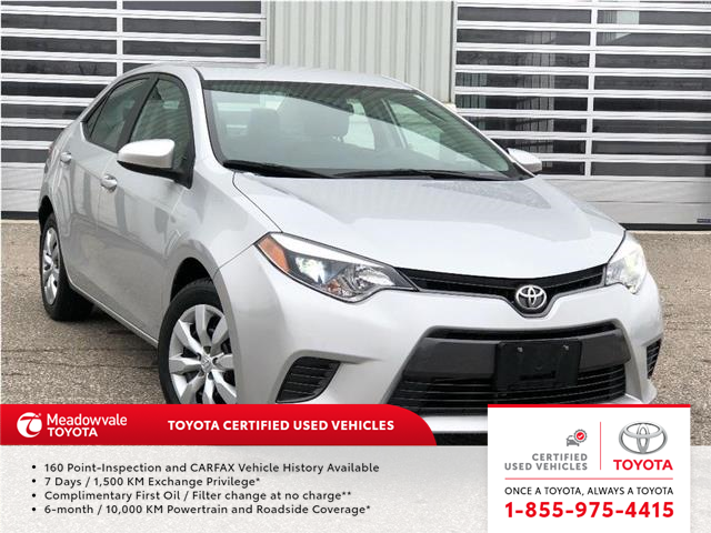 2016 Toyota Corolla LE! JUST TRADED ! (Stk: 31524) in Mississauga - Image 1 of 20