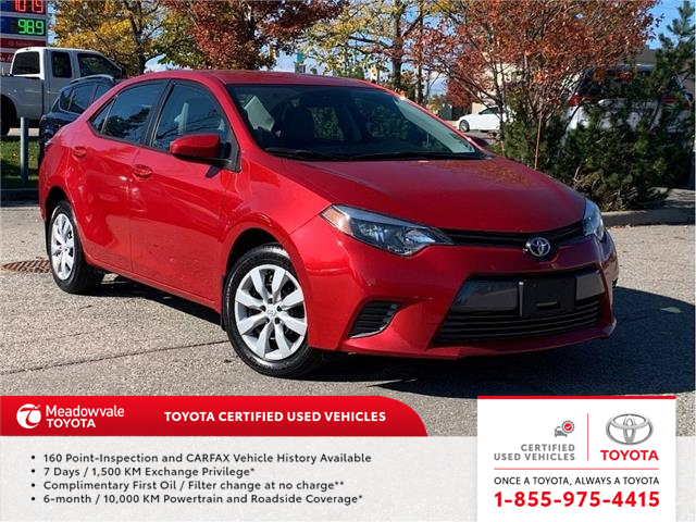 2016 Toyota Corolla LE (Stk: M200194A) in Mississauga - Image 1 of 11