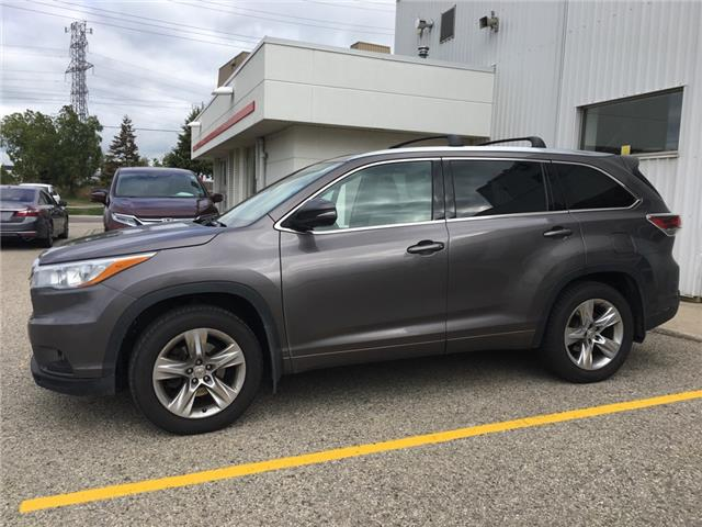 2015 Toyota Highlander Limited (Stk: H6010A) in Waterloo - Image 1 of 3
