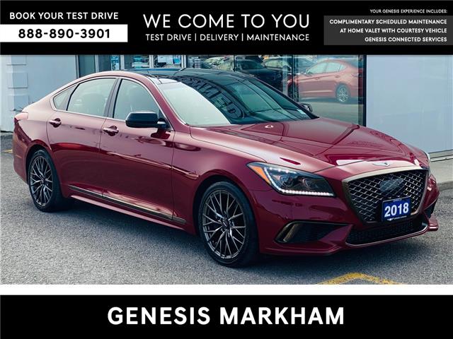 2018 Genesis G80 3.3T Sport (Stk: 8690H) in Markham - Image 1 of 19