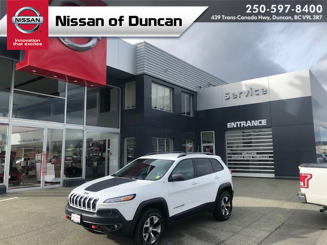 2018 Jeep Cherokee Trailhawk (Stk: 8T8559A) in Duncan - Image 1 of 18