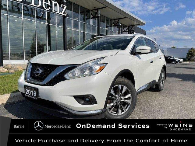 2016 Nissan Murano SL (Stk: 21MB153A) in Innisfil - Image 1 of 21
