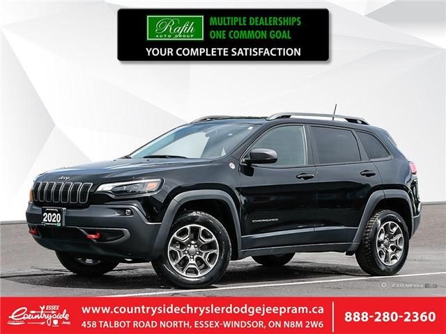 2020 Jeep Cherokee Trailhawk (Stk: 60495) in Essex-Windsor - Image 1 of 27