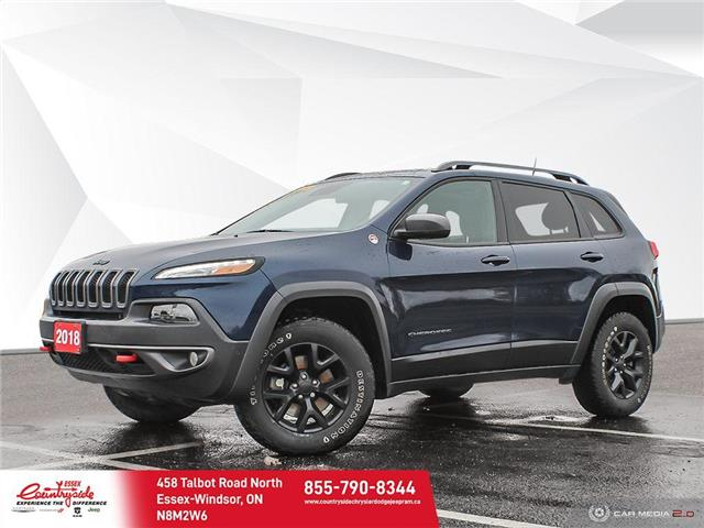 2018 Jeep Cherokee Trailhawk (Stk: 201111) in Essex-Windsor - Image 1 of 30