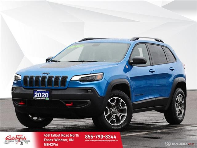 2020 Jeep Cherokee Trailhawk (Stk: 60709) in Essex-Windsor - Image 1 of 27