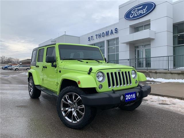2016 Jeep Wrangler Unlimited Sahara (Stk: T9296B) in St. Thomas - Image 1 of 23