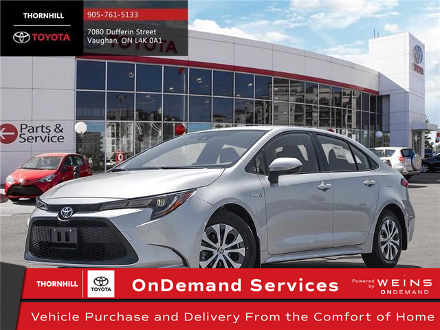 2021 Toyota Corolla Hybrid Base w/Li Battery (Stk: 300184) in Concord - Image 1 of 24