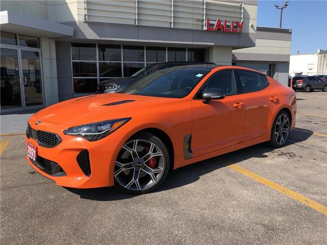 2021 Kia Stinger GT Limited - Neon Orange (Stk: KSTI2295) in Chatham - Image 1 of 19