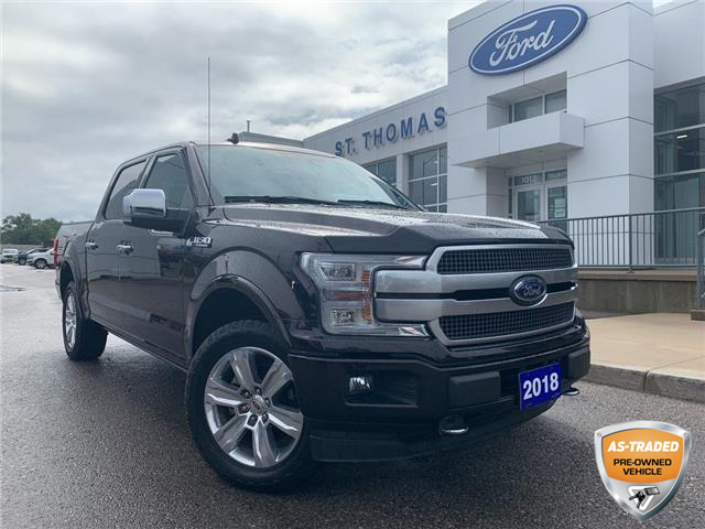 2018 Ford F-150 Platinum (Stk: T0485A) in St. Thomas - Image 1 of 30