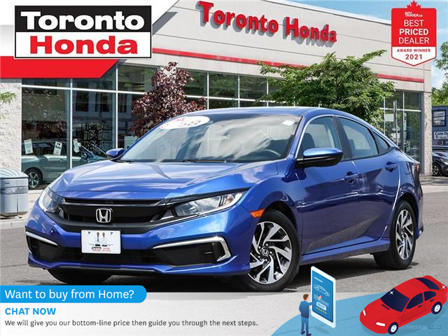2019 Honda Civic EX 7 Years/160,000KM Honda Certified Warranty (Stk: H41722T) in Toronto - Image 1 of 29