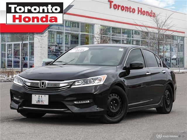 2017 Honda Accord Sedan SPORT NO ACCIDENT REMOTE ENGINE STARTER REAR CAMER (Stk: H41189P) in Toronto - Image 1 of 27