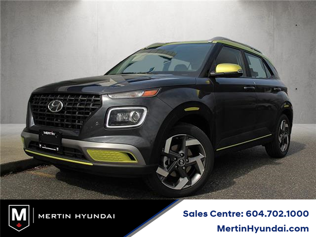 2021 Hyundai Venue Trend w/Urban PKG - Grey-Lime Interior (IVT) (Stk: HB3-4596) in Chilliwack - Image 1 of 10