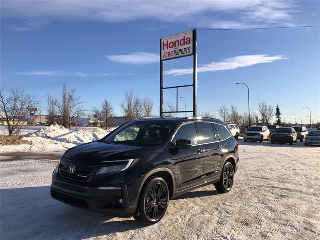 2021 Honda Pilot Black Edition (Stk: H16-4612) in Grande Prairie - Image 1 of 27